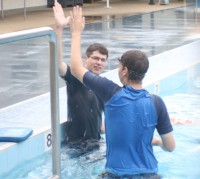 unisa magil swimming lessons disability high five reward